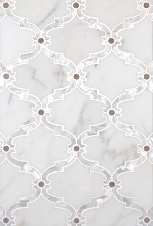 0.85 SFT/SH Polished Bellagio Augusta Marble Tile