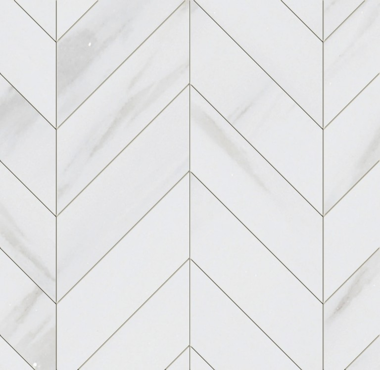 0.183 SFT/SH Polished Chevron Bianco Dolomite Marble Tile