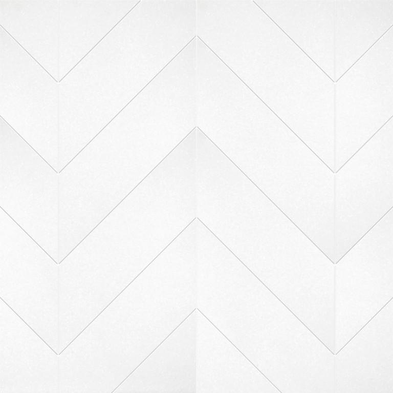 0.183 SFT/SH Polished Chevron Thassos Marble Tile
