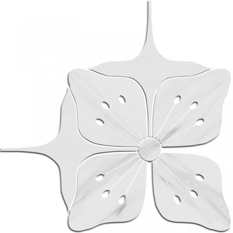 0.43 SFT/SH Polished Eleanor Bianco Dolomite Marble Tile