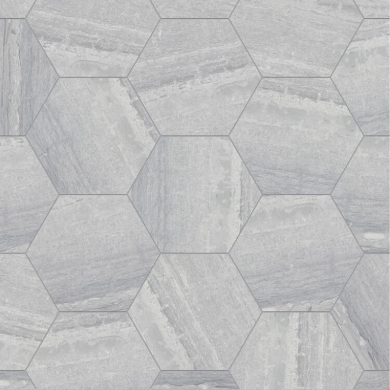 0.175 SFT/SH Honed Hexagon Ponza Verde Marble Tile