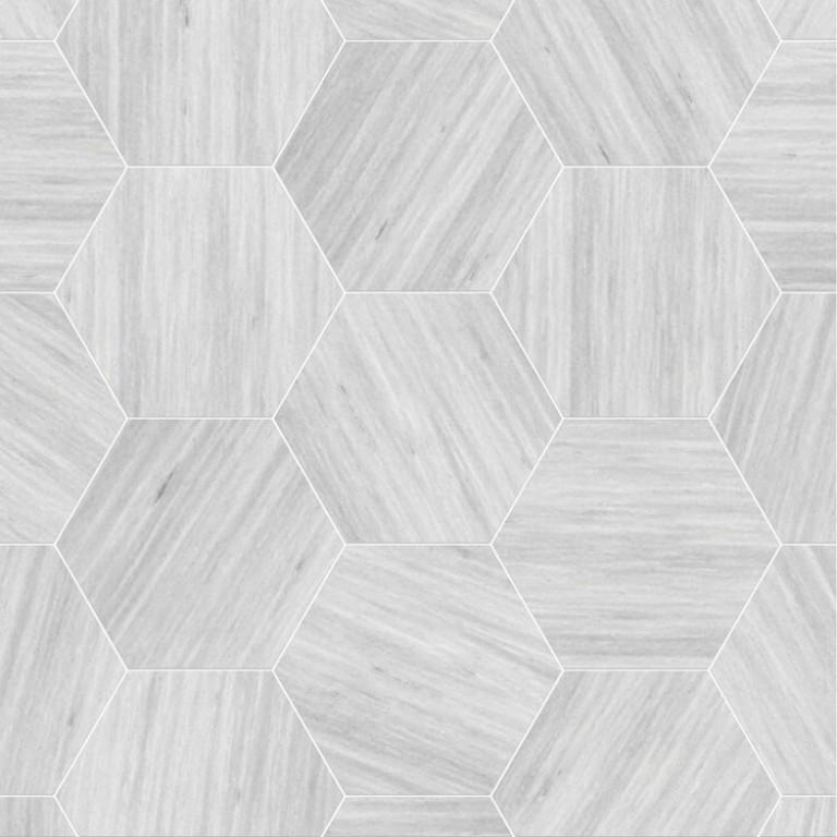 0.175 SFT/SH Honed Hexagon Solto Grey Marble Tile