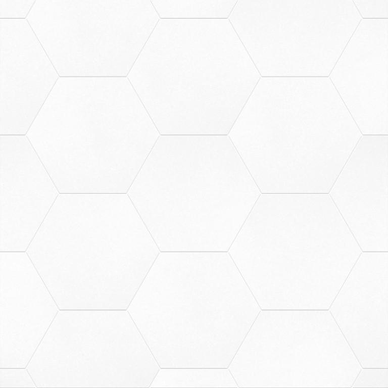 0.175 SFT/SH Honed Hexagon Thassos Marble Tile