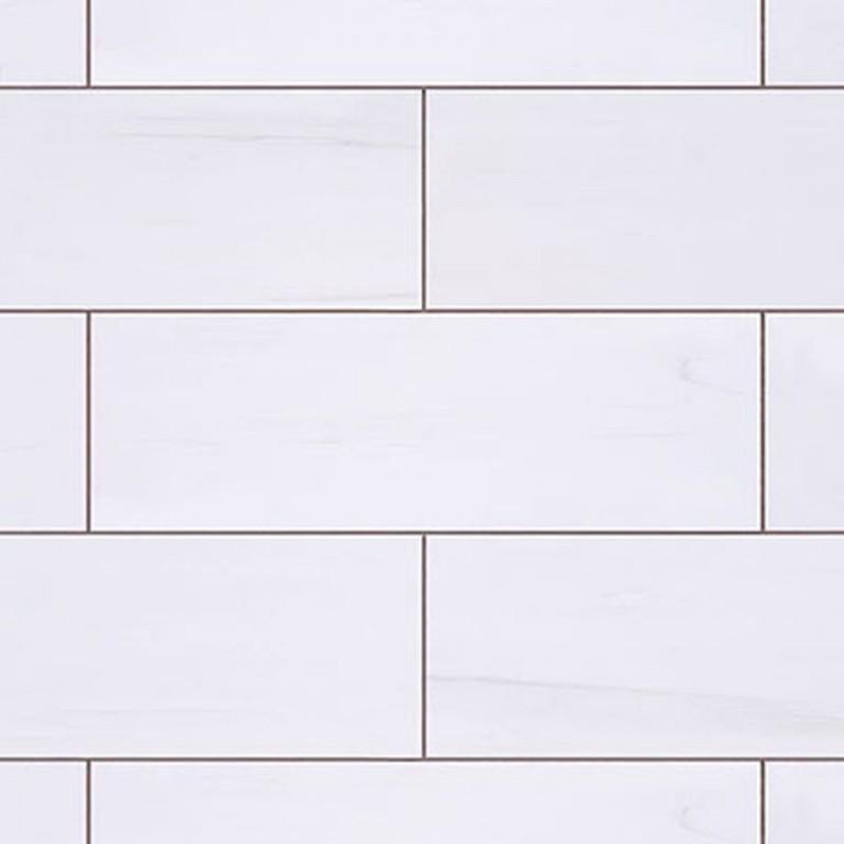 """Bianco Dolomite Marble 3""""X12"""" Honed Subway Tile"""