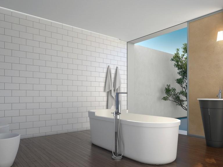 """Bianco Dolomite Marble 6""""X12"""" Polished Subway Tile"""