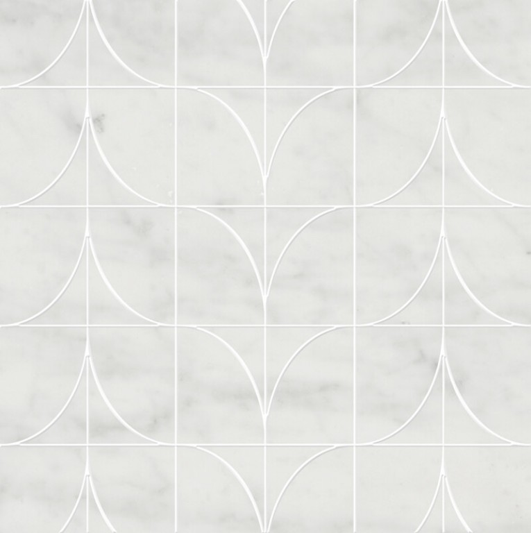 0.98 SFT/SH Honed Levanzo Bianco Cararra Marble Tile