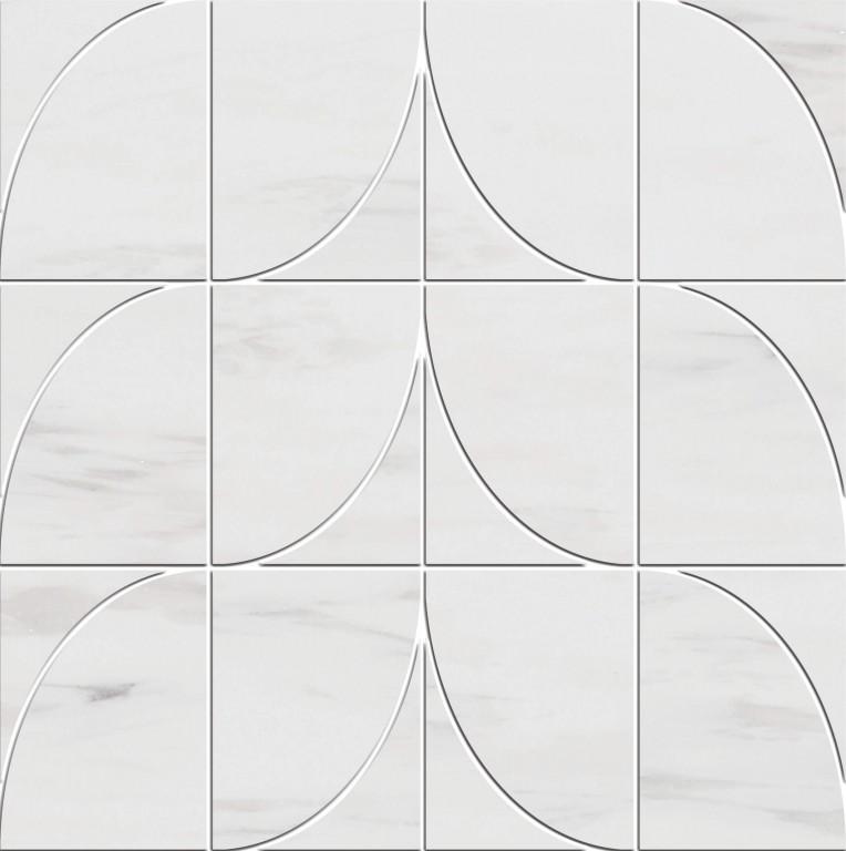 0.98 SFT/SH Polished Levanzo Bianco Dolomite Marble Tile