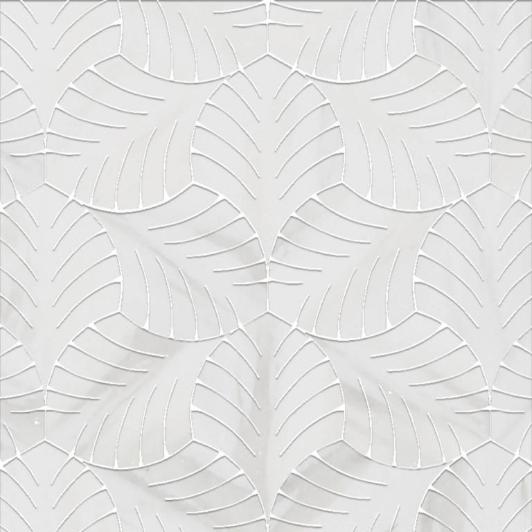 0.5 SFT/SH Honed White Majestic Bianco Dolomite Marble Tile