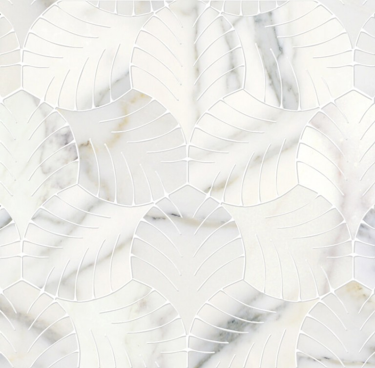 0.5 SFT/SH Honed White Majestic Calacatta Gold Marble Tile