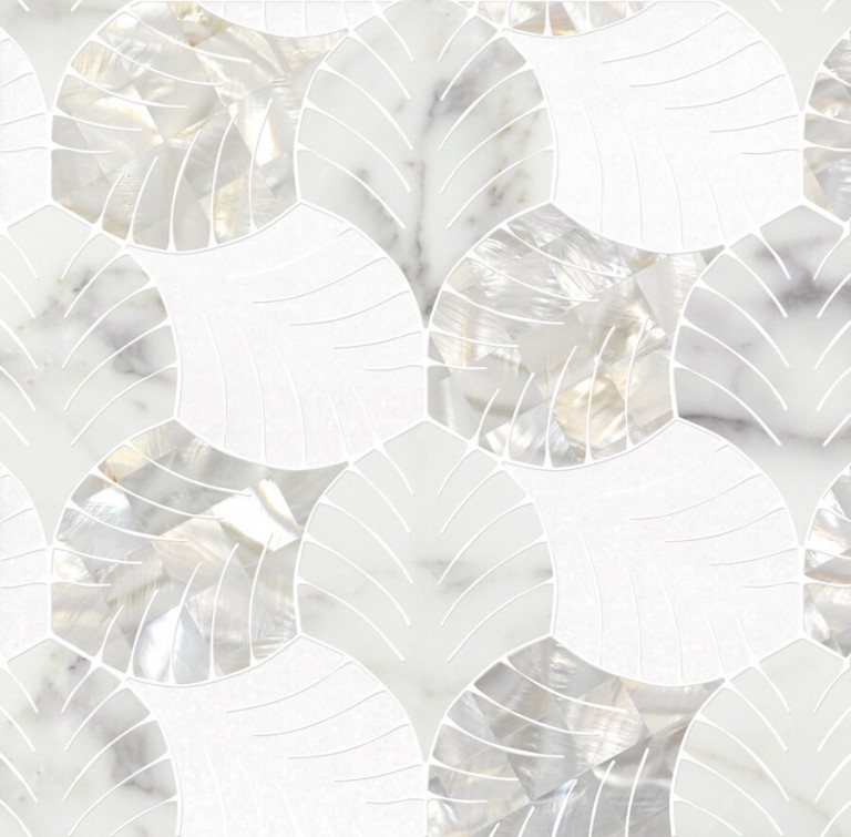 0.5 SFT/SH Polished Majestic Mother of Pearl Marble Tile