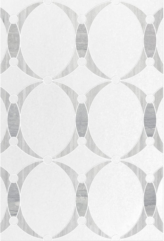 0.83 SFT/SH Honed Mirage Thassos Mini Mosaic Marble Tile