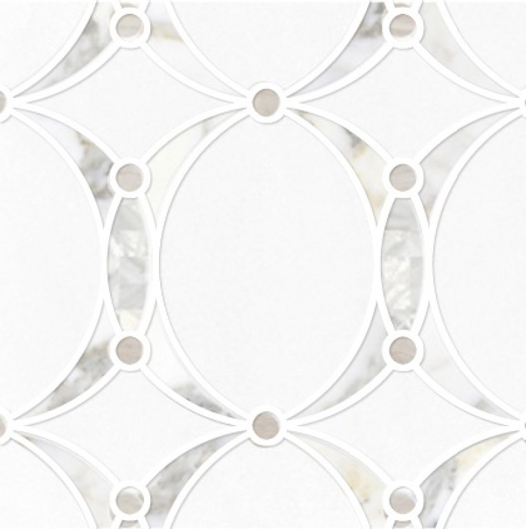 0.73 SFT/SH Polished Mirage Mother of Pearl Macro Mosaic Marble Tile