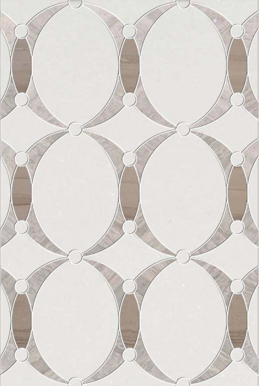 0.73 SFT/SH Polished Mirage Thassos Mini Mosaic Marble Tile