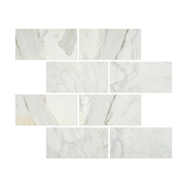 12 x 24 Honed Calacatta Gold Marble Tile