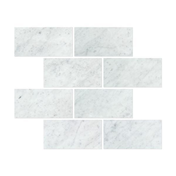 12 x 24 Polished Bianco Carrara Marble Tile