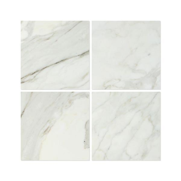 18 x 18 Honed Calacatta Gold Marble Tile