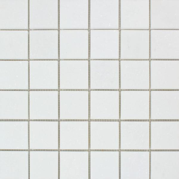 2 x 2 Honed Thassos White Marble Mosaic Tile