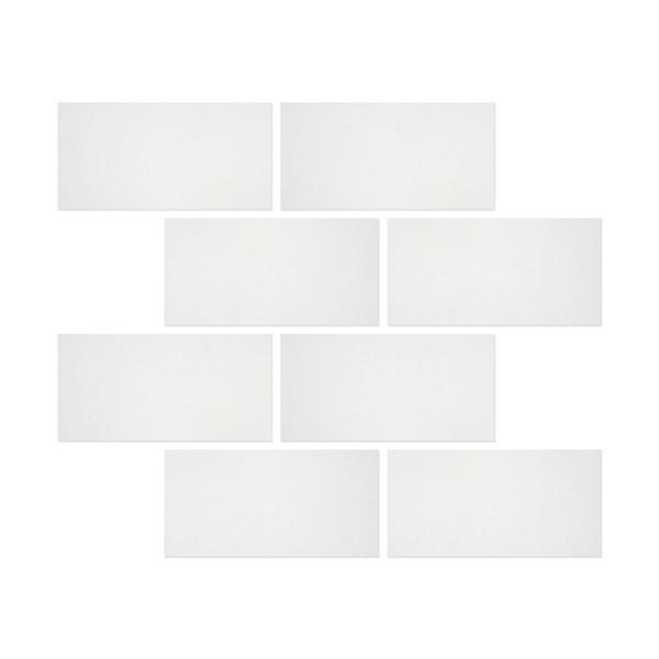 6 x 12 Honed Thassos White Marble Tile
