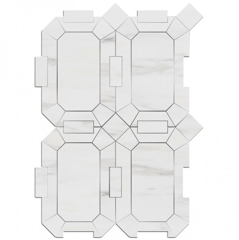 1.2 SFT/SH Honed Ravello Bianco Dolomite Marble Tile