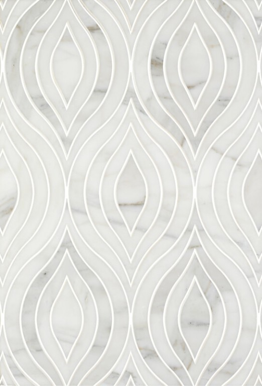 0.95 SFT/SH Honed Scarlett Calacatta Gold Marble Tile